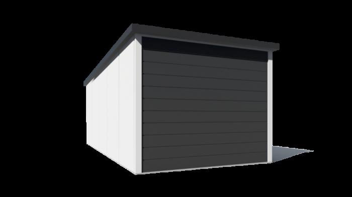 garaż z płyt warstwowych